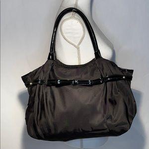 Kate Spade nylon/patient leather Stevie black bag
